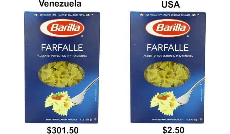Mezzo chilo di pasta a 270 euro
