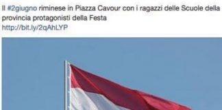 comune italiano confonde bandiera