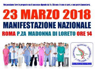 Manifestazione nazionale 23 marzo 2018.