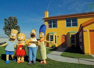 Le foto della casa dei mitici Simpson