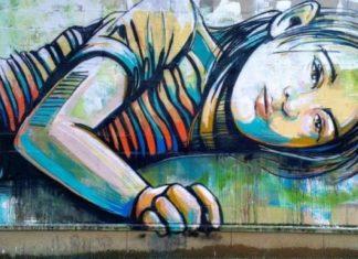 La negatività su un murales