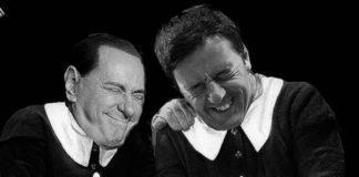 Silvio Berlusconi con Matteo Renzi