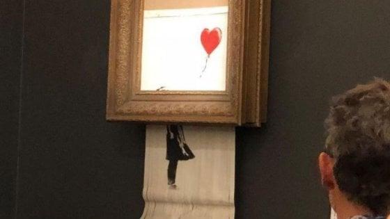 opera di Banksy distrutta
