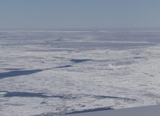 ghiacciaio dalla forma rettangolare