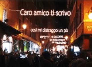 Luminarie con canzone Lucio Dalla