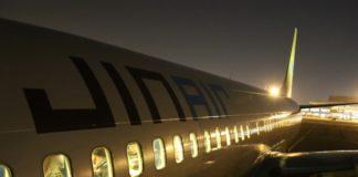 spengono le luci al decollo
