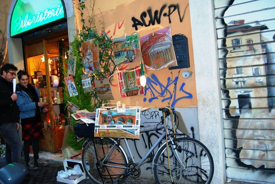 una bici come galleria