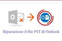 riparazione il file pst di outlook 2016