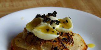 Caviale con crisps di patate