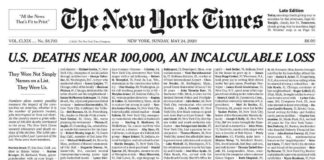 Vittime dil Covid New York Times