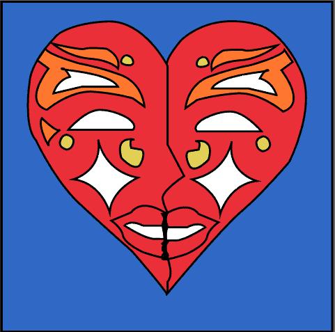 Maschera dal colore rosso